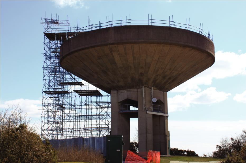 Confined Space Scaffolding Landmark Drinking Tower